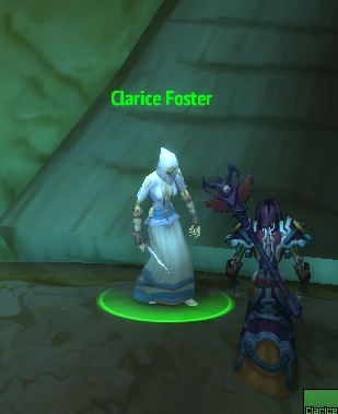 Hey, is this NPC named for Clarice/Jody Foster's character from Silence of the Lambs? You probably already knew that.