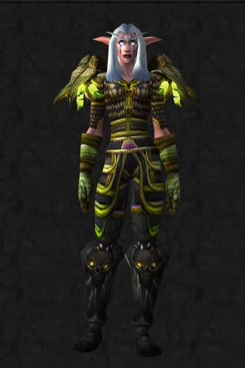 black and green hunter