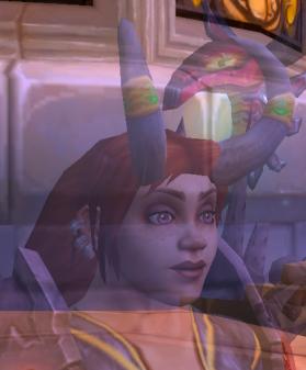 Kellda's violet eyes