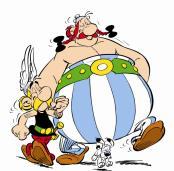 Asterix, Dogmatix, and Obelix...my heroes!