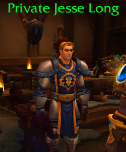 You didn't have to give me flying in Draenor: I just met Jesse Long and we were going to be private and stuff...those glasses! That tabard! *swoon*