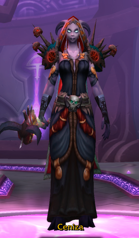 This is her current mog look: gritty, dark, and suits her combustible nature...